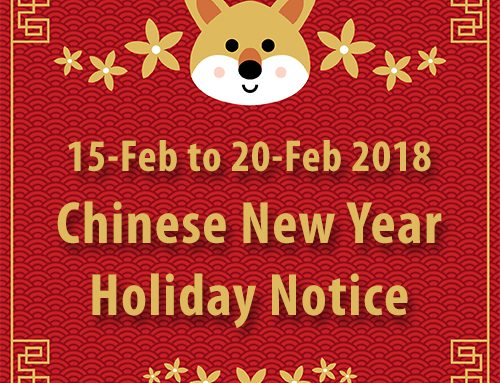 2018 Chinese New Year Holiday Notice